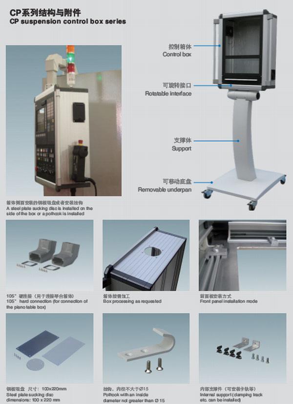 CP210/CP140系列共和AK控制箱由高品质阳极氧化铝型材和铝压